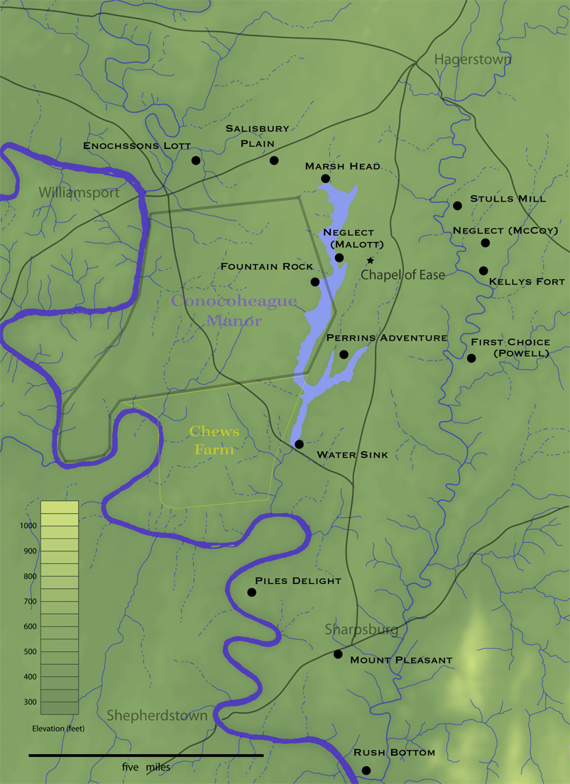 John perins in frontier maryland central washington county maryland in 1739 the probable extent of the great marsh is shown in light blue roads are as established much later 1betcityfo Images
